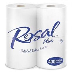 PAPEL HIG ROSAL PLUS 4ROLLOS 400HOJ AZUL
