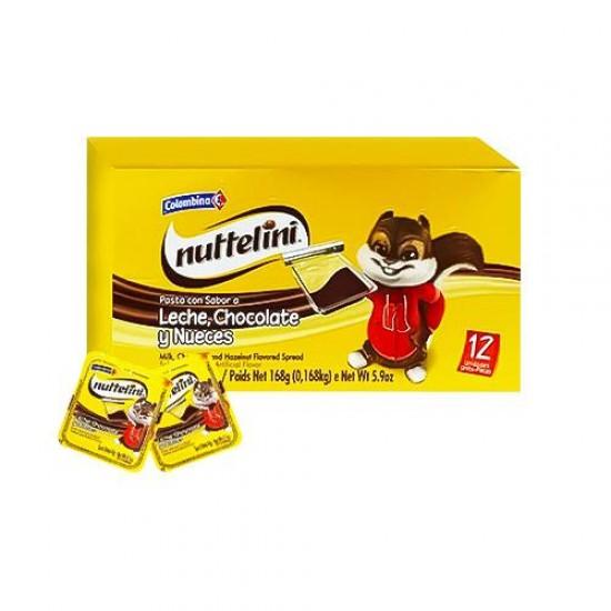 CHOCOLATE NUTTELINI X 12 UND EN CREMA