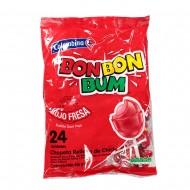 CHUPETA BON BON BUM 24UND FRESA